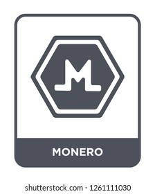 monero icon vector on white background, monero trendy filled icons from Cryptocurrency economy and finance collection, monero simple element illustration