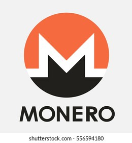 Monero XMR open-source crypto currency coin on blockchain technology. Monero vector icon, sign for print and web.