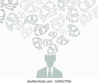 Money abstract vector background illustration