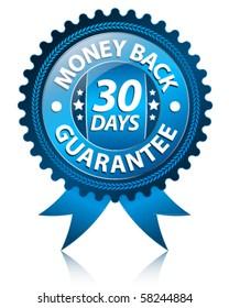 Money back 30 days label