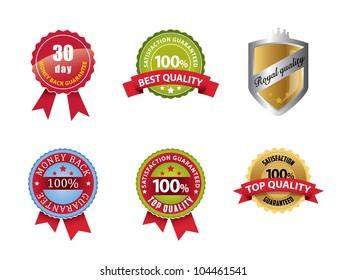 Money Back Guaranteed and 100% Satisfaction Guaranteed Sign Set