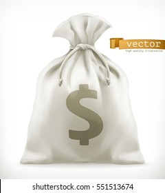 Money Bag, 3d vector icon