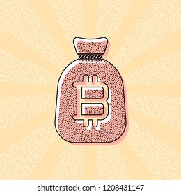 Coin Bitcoin Print Art Images, Stock Photos & Vectors | Shutterstock
