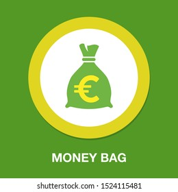 money bag - currency symbol, investment icon - banking sign, banking cash