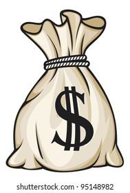 Money bag with dollar sign vector illustration
