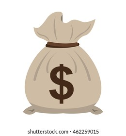 money bag economy icon vector illustration design