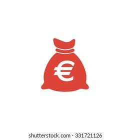 Money bag icon. Vector illustration EPS 10