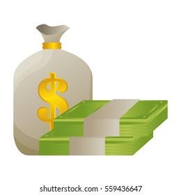 money bag isolated icon