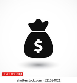 Money bag . vector icon 10 EPS