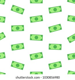 Money, bank notes on white background , seamless vector