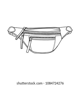Money Belt and pouch, sketch, icon