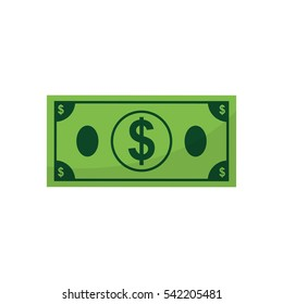 Money bill cash icon vector illustration graphic design