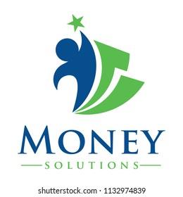 Money and Billing Solutions Logo Design Inspiration Vector