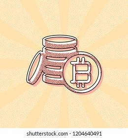 Coin Bitcoin Print Art Images, Stock Photos & Vectors | Shutterstock