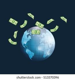 Money business financial icon vector illustration graphic design