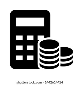 Money calculation icon vector. Budget banking illustration logo. Financial payment symbol.