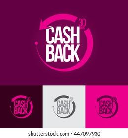 Money cash back banner. Geometric design. Vector illustration.