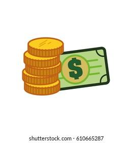 Money and cash icon vector illustration graphic design
