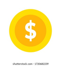 money coin icon, illustration vector. suitable for many purposes.