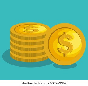 money coins isolated icon