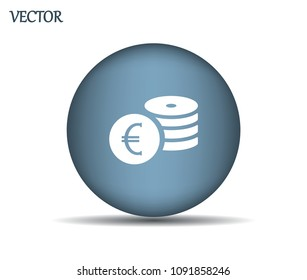 Money, coins, stateroom vector icon