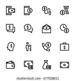 Money concept - Icon collection