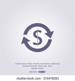 money convert vector icon