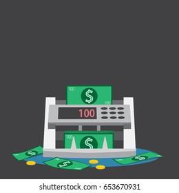money counting machine. vector illustration