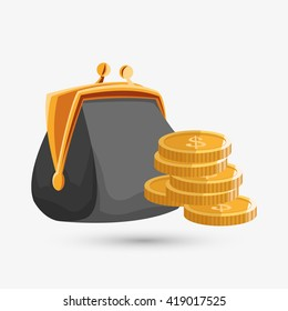 Money design. Financial item. Isolated illustration