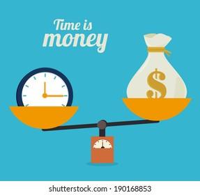 Money design over blue background, vector illustration