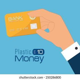 Money design over blue background, vector illustration.
