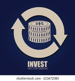 Money design over blue background,vector illustration