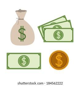 Money design over gray background, vector illustration