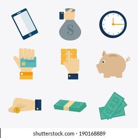 Money design over white background, vector illustration