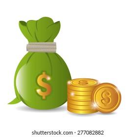 Money design over white background, vector illustration.