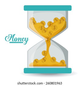 Money design, vector illustration over white background