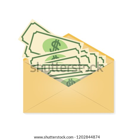 money envelope wages financial gift reward stock vector royalty