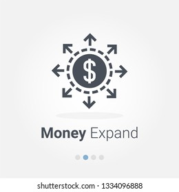 Money expand vector icon