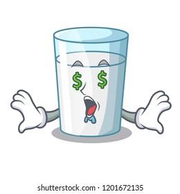 Money eye cartoon sweet milk glass for breakfast