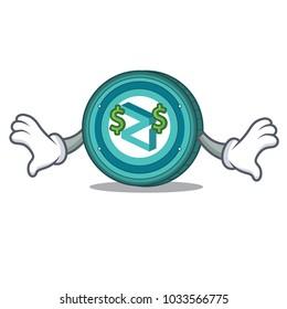 Money eye Zilliqa coin mascot cartoon