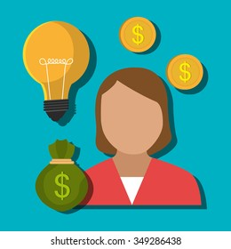 Money and financial market graphic design, vector illustration