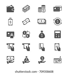 Money flat icons