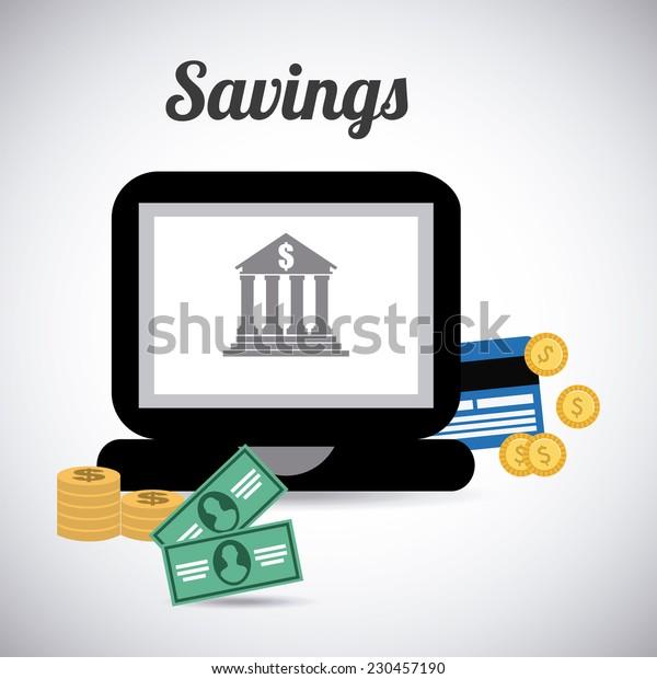money graphic design , vector illustration