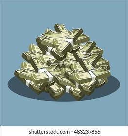 Money icon. A lot of money.