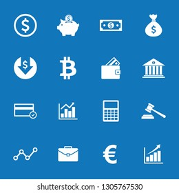 money icon and finance icon set symbol vector