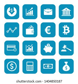 money icon and finance icon set symbol vector. for web computer and mobile