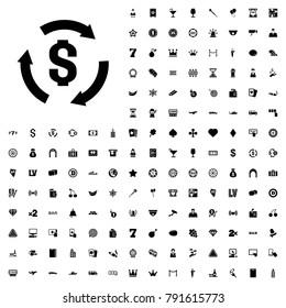 Money icon illustration isolated vector sign symbol. editable casino icons vector set.