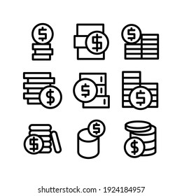 money icon or logo isolated sign symbol vector illustration - Collection of high quality black style vector icons