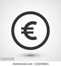 Money icon, stock vector illustration flat design style