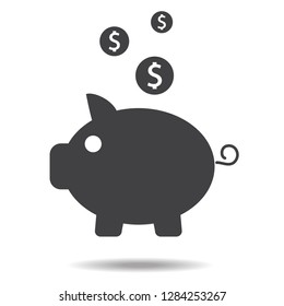 Money icon vector isolated on white background. Money icon for web site, sticker, label, logo template and app. Creative business concept, vector illustration